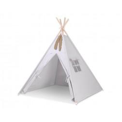 Dětský stan TÝPÍ (bez deky na podlaze a bez polštářků) - šedá