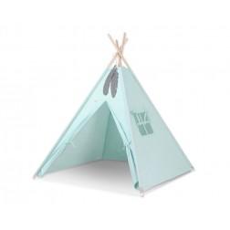 Dětský stan TÝPÍ (bez deky na podlaze a bez polštářků) - mátová