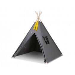 Dětský stan TÝPÍ (bez deky na podlaze a bez polštářků) - antracit