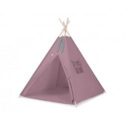Dětský stan TÝPÍ s oboustrannou dekou (bez polštářků) - retro růžová