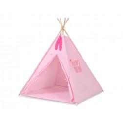 Dětský stan TÝPÍ s oboustrannou dekou (bez polštářků) - růžová
