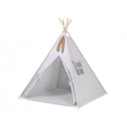 Dětský stan TÝPÍ s oboustrannou dekou (bez polštářků) - šedá
