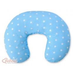 Kojící polštář se snímatelným potahem - hvězdy na modrém