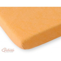 Prostěradlo froté do postýlky 120x60 cm - oranžové