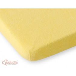 Prostěradlo froté do postýlky 120x60 cm - žluté