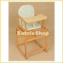 Jídelní židlička Klupś AGA přírodní borovice