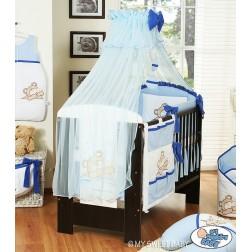 Moskytiéra - dětská postýlka - BARNABÁŠ - modrá