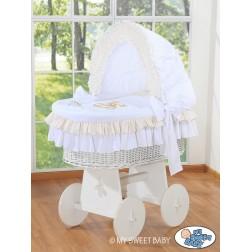 Koš na miminko bílý MÉĎA S MAŠLÍ + bouda - 327