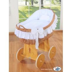 Proutěný koš na miminko MY SWEET BABY - Carina bílý