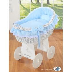 Koš na miminko bílý MY SWEET BABY - Carina modrý