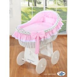 Koš na miminko bílý MY SWEET BABY - Carina růžový