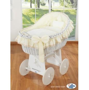 Koš na miminko bílý MY SWEET BABY - Carina krémový