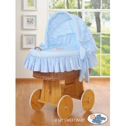 Koš na miminko s boudou DOBROU NOC - modrý