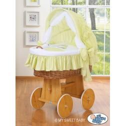 Koš na miminko s boudou OSLÍK LUKY - zelený