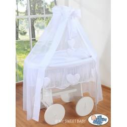 Bílý koš na miminko Deluxe AMELIE - bílý