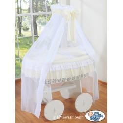 Bílý koš na miminko Deluxe BELLAMY - krémový