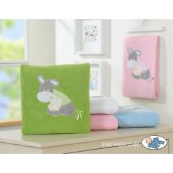 Dětská deka kolekce OSLÍK LUKY - zelená