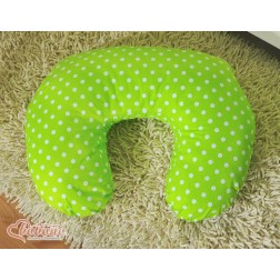 Kojící polštář se snímatelným potahem - puntíky na zeleném