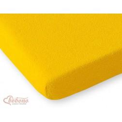 Prostěradlo froté do postýlky 140x70 cm - tmavě žlutá