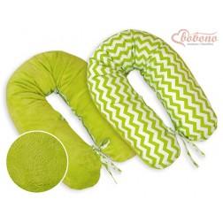 Kojící a relaxační polštář LONGER MINKI - CIKCAK zelený