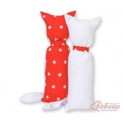 Polšťářko-hračka kocourek-hvězdičky na červeném