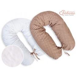 Kojící a relaxační polštář LONGER MINKI - puntíky na hnědém