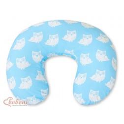 Kojící polštář se snímatelným potahem SOVY modré