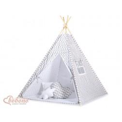 Dětský stan TÝPÍ (bez deky na podlaze a bez polštářků) -CIKCAK šedá