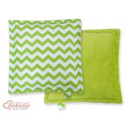 Oboustranný polštářek MINKI- CIKCAK zelený