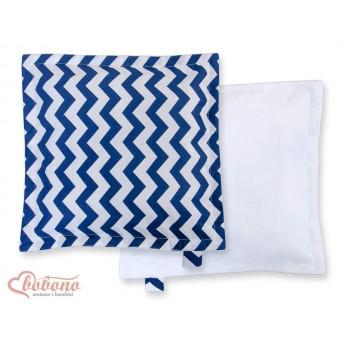 Oboustranný polštářek MINKI- CIKCAK tmavě modrá