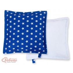 Oboustranný polštářek MINKI- hvězdy na tmavě modrém
